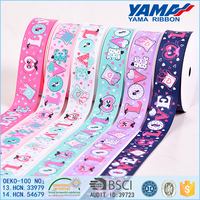 yama valentine ribbon 1 inch 25mm love grosgrain printed ribbon Wholesale