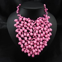 America and Europe pop handmade bead woven short fashion necklace