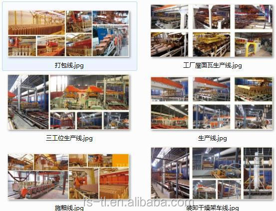 Fully automatic production 3W lines for roofing tiles