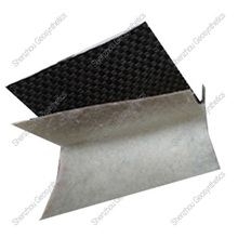 Composite geomembrane, waterproof membrane with woven geotextile