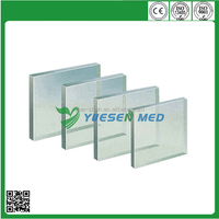 medical x-ray lead line glass