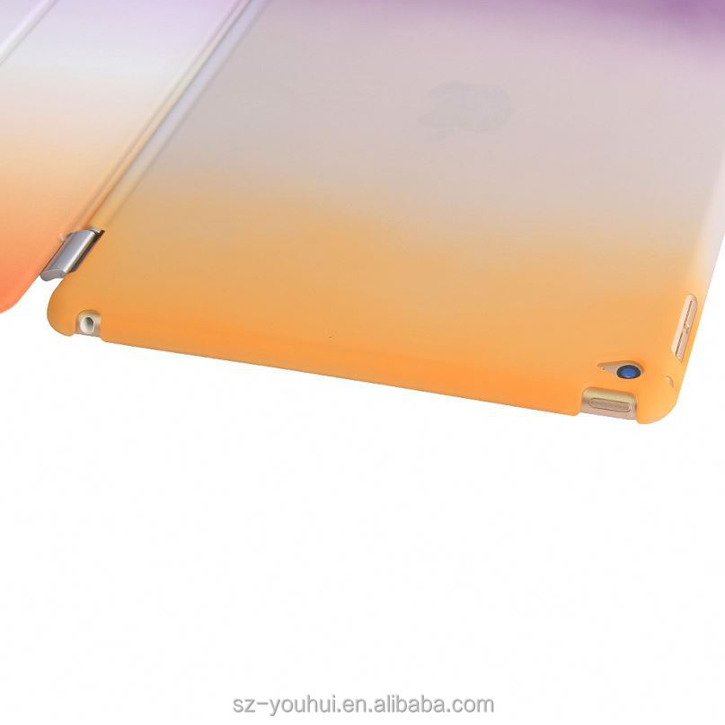 Latest Version Rainbow Color Ultra Slim Full Cover Leather Case For Ipad Air 2