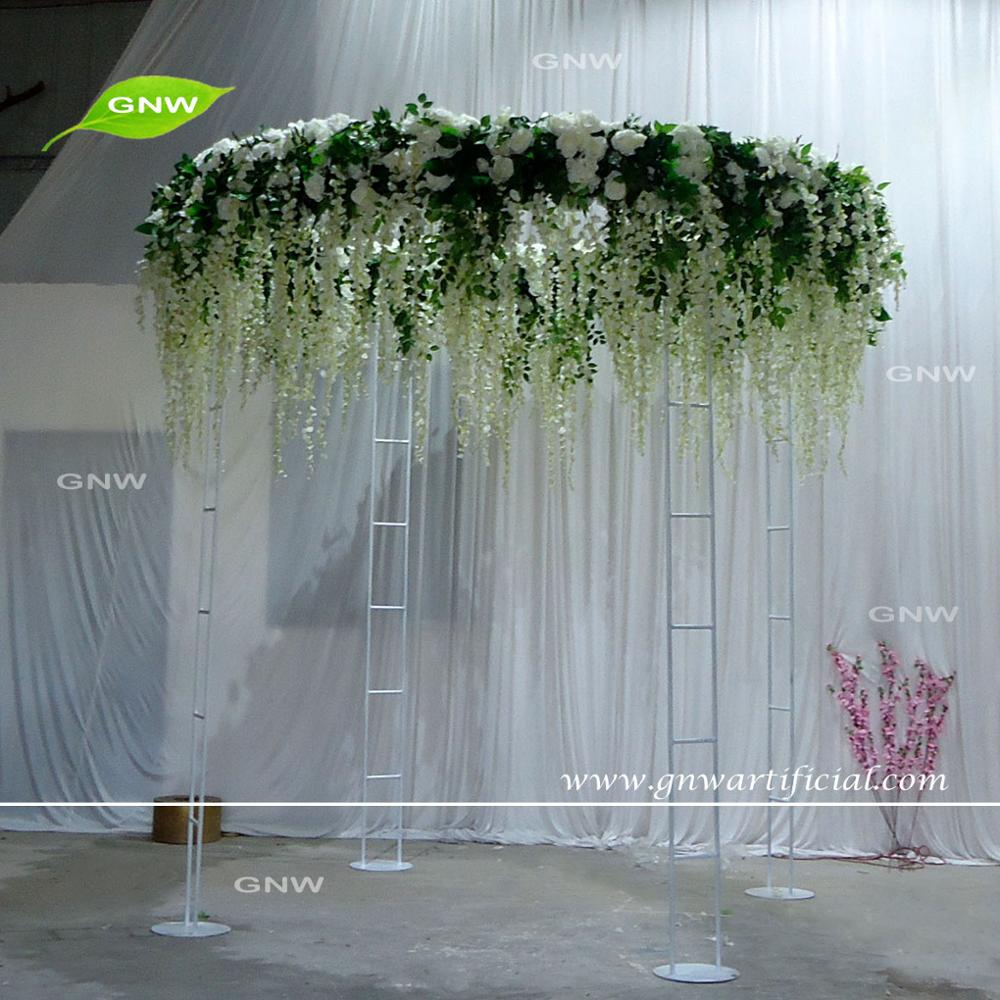 GNW FLWA170902-001 Artificial orchids rose hydrangea flower wedding aisle arch
