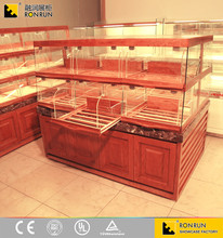 2017 Top rated cake bread bakery shop furniture food display counters