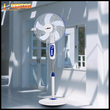 16 inch cooling RECHARGEABLE AC /DC stand fan with timer CE certificate