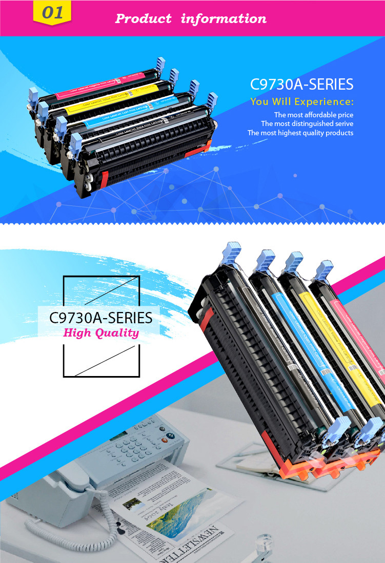 GS China Premium Toner Cartridge C9730A compatible for HP 5500/5550 Printer