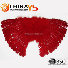 Red marabou and goose feather butterfly wing YS8049 85*48cm