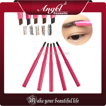 1 PCS HOT Women Ladies Waterproof Brown Eyebrow Pencil Eye Brow Liner Free sample eyebrow automatic pencil
