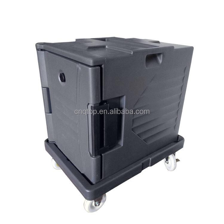 87L styrofoam insulated ice cooler box with wheels for food delivery