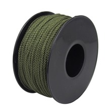 Braided nylon twine olive green nylon cord 8 strand braided twine