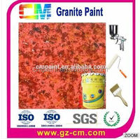 Top quality hot selling multicolor water proof granite paint for interior & exterior wall