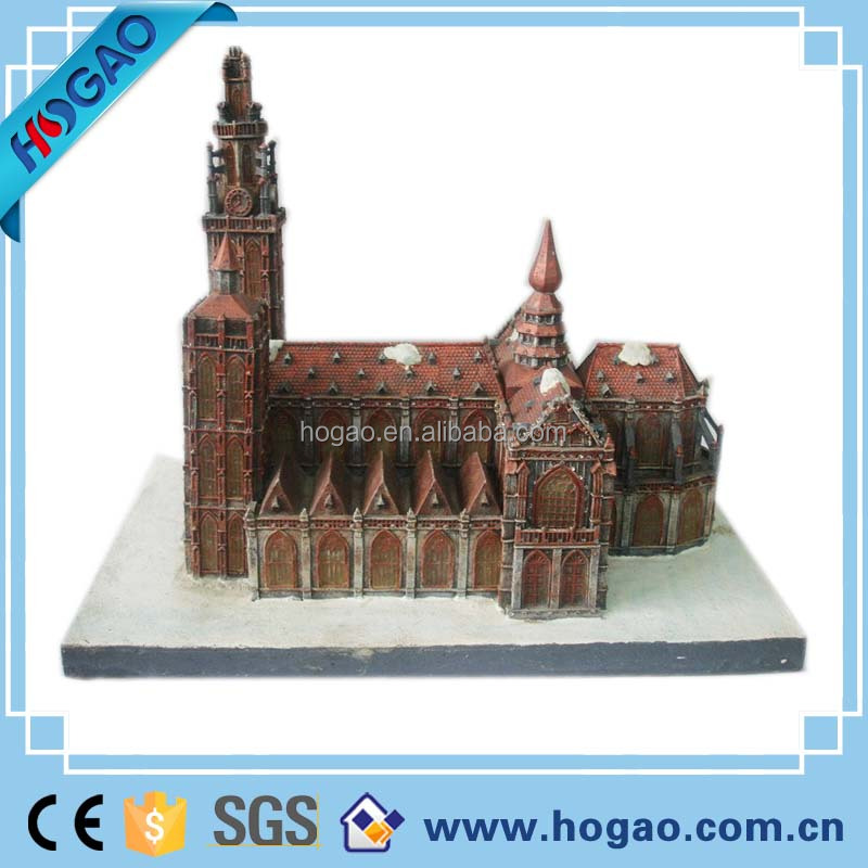 resin 3D souvenir Antique famous site resin mini building model