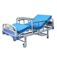 2 Crank Manual Used Hospital Bed With Mattress With Dinning Table