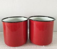 Red 8cm diameter 350ml coffee milk mug cup for home and office outdoor use