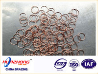 Welding soldering supplies cheap oxygen free copper brazing rings