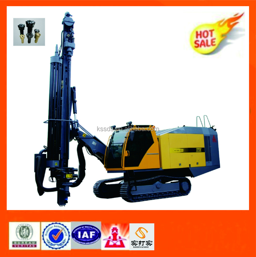 KT20 Integrated Blast Hole Drilling Rig / Hydraulic Top-drive Power Head Drilling Rig