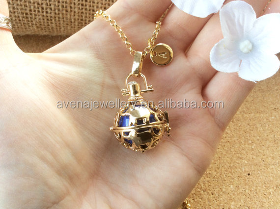 Women Locket Pendant Necklace Gold Angel Callers Pregnancy Maternity Ball Musical Bell Bola China Dongguan Bola Wholesale