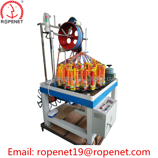 high quality flat belt/wire /rope/cable braided rope making machine