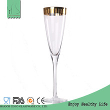 Cisco 2017 New Design CPG055 Wholesale Crystal Custom Coupe Gold Rim Champagne Flutes