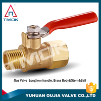 good quality lpg gas dn15 brass gas valve needle cock drain ball valve with forged and 600 wog high pressure