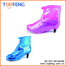 Fashion Waterproof High Heel Shoes Cover Rain Snow Reusable Protective Shoes Covers for Women High Heel