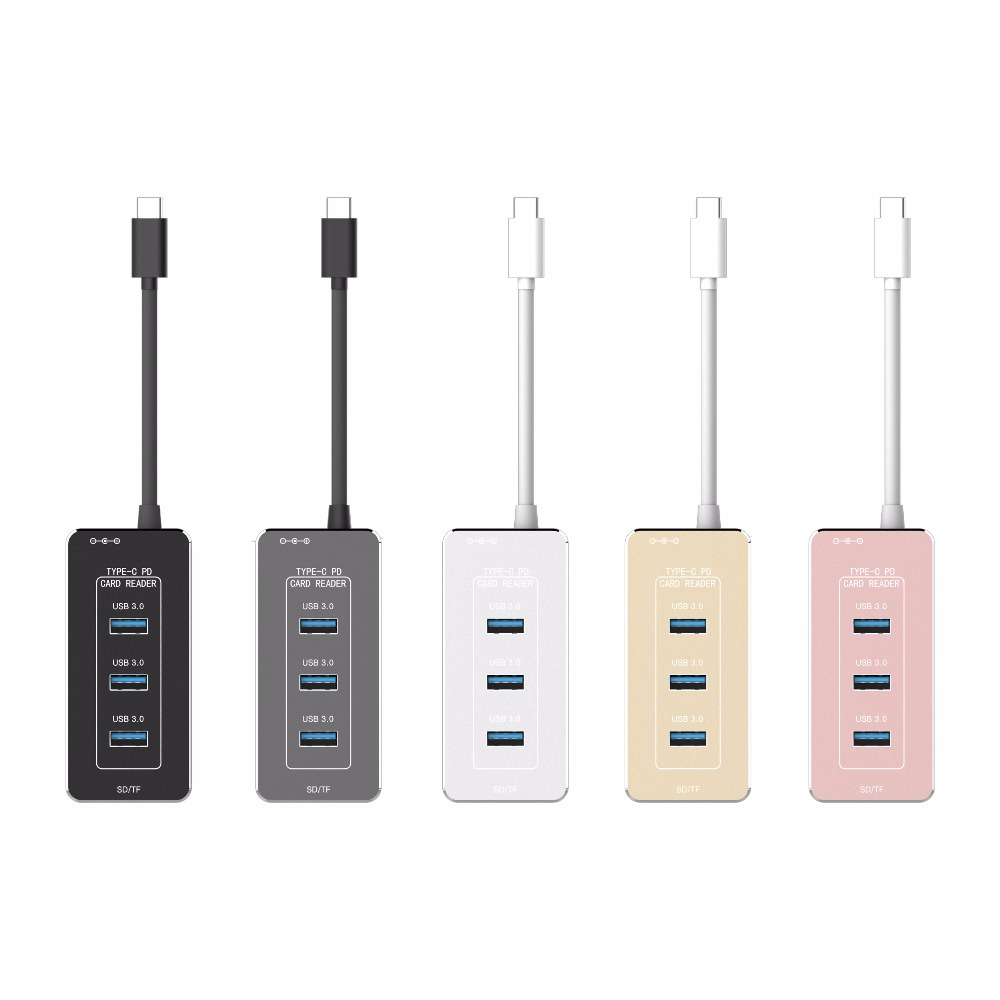 mini SD memory usb-c card reader light weight usb3.1 type c to usb 3.0 a female adapter for trip,handheld contactless smart type