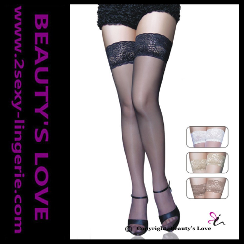 2015 Amazon's supplier hot wholesale cheapest black sexy lace women silk stockings