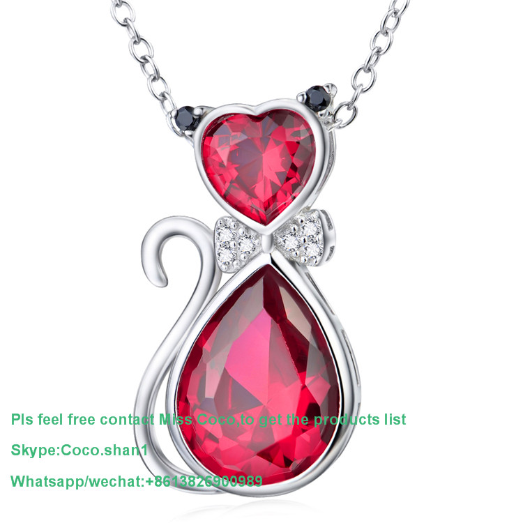 Brand new wholesale red diamond pendant necklace high quality many design welcome to ask Jewelry pendant list
