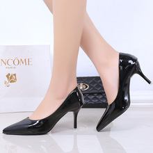 New Arrival Autumn Spring Fashion PU Leather Ladies Pumps Women Sexy High Heels