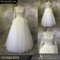 High Quality Latest bridal dress buttons down the back