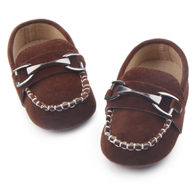 High Quality Soft Leather Anti-Slip Newborn Spring Autumn Baby Boy Shoes