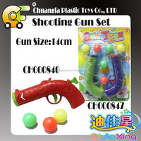 Plastic shooting games with target pingpong ball toys gun for kids