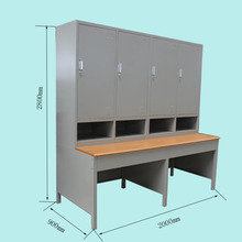 Wooden top steel study table and cabinet/office school desk with 3 drawers