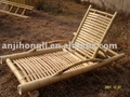 Natural bamboo chair for home or garden use