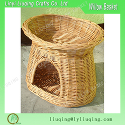 Wholesale wicker basketry Cat or Small Dog Wicker House, Willow Basket for Cats and Small Dogs, Woven Pet Basket