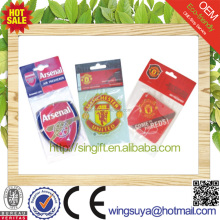 new car scent hanging paper car air freshener with soccer club shape