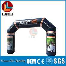 Inflatable finish line arch, entrance arch gate,High quality PVC durable mobile outdoor advertising tools