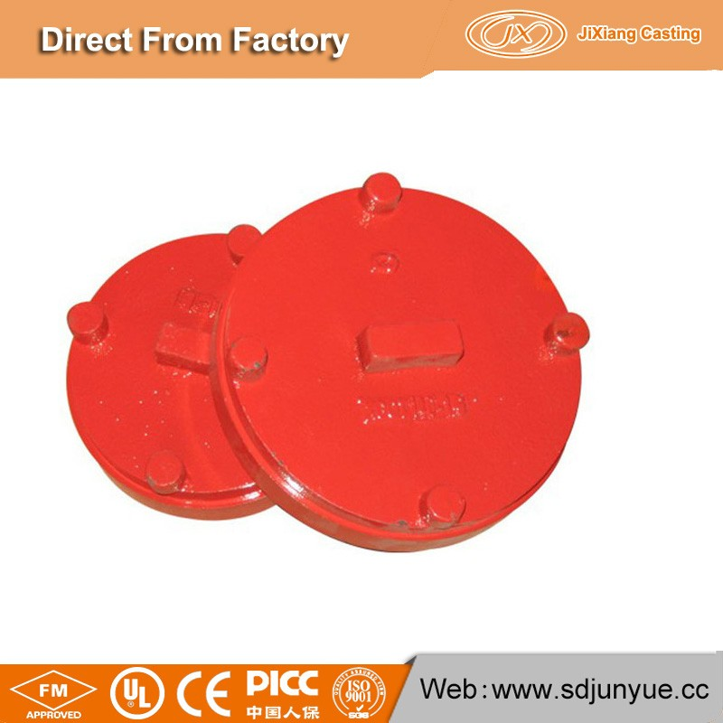 FM/UL certificated grooved pipe fittings female threaded end cap