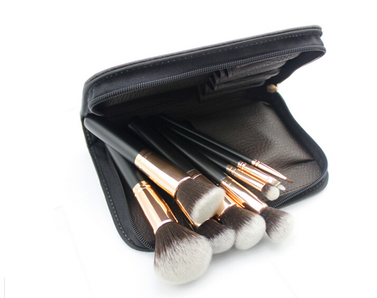 11pcs gold ferrule Luxury Makeup Brush Set synthetic hair