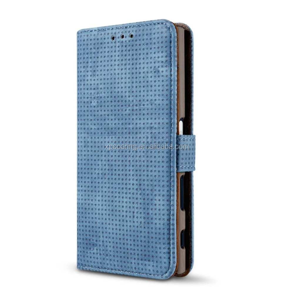 Matt skin Photo frame wallet case for Sony Xperia XZ, stand flip case cover for Xperia XZ