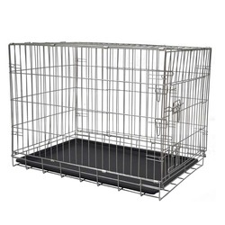 Foldable carrier cages customized sizes cages for dog with tray