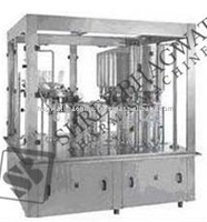 ROTARY RINSING, FILLING AND CAPPING MACHINE