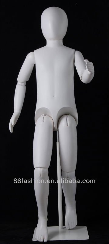 Plastic hot child models movable joint mannequins