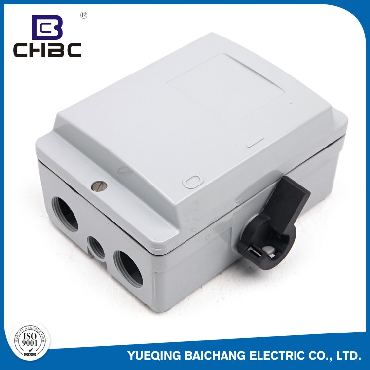 CHBC Competitive Price Waterproof 162*80mm Size Disconnect Isolating Switch