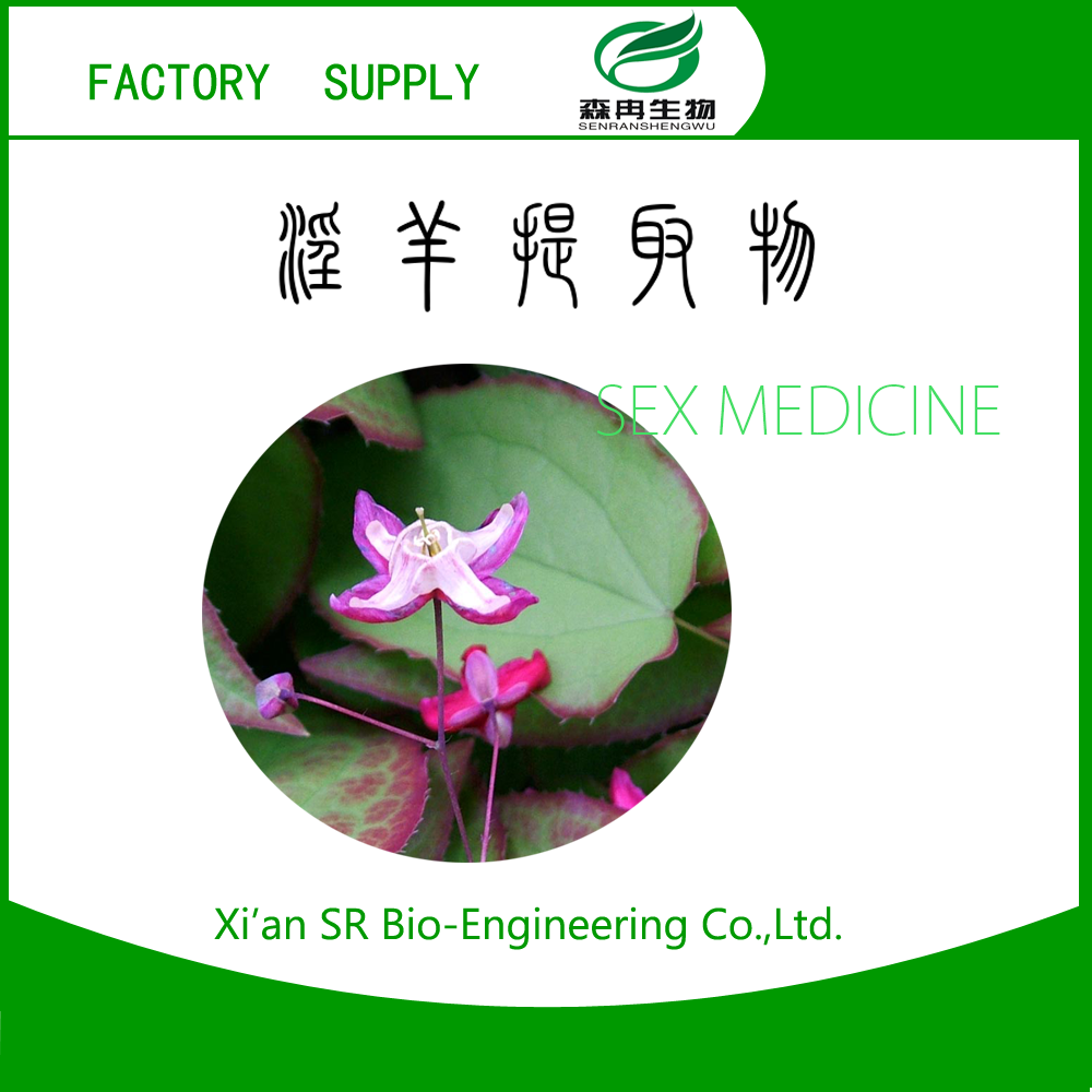 SR Fairy Wings Extract Powder /bishop's Hat Extract Powder/ Icariin Cas No. 56692-02-5 Benefits For Ejaculation Problems