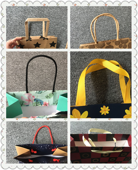 Self Opening Square SOS kraft paper bag with rope handle