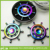 Stainless Steel Hand Spinner Metal Fidget Spinner Rudder Shaped Rainbow Color EDC Hand Spinner Funny Anti Stress Fidget Toy