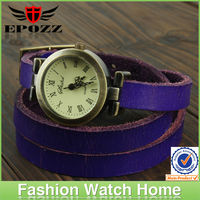 Wholesale vogue wrist watch ladies vintage watch leather strap 2013 style