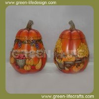 Vintage resin harvest pumpkin