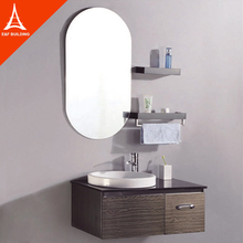 modern design wall mounted oval bathroom mirror jewelry cabinet